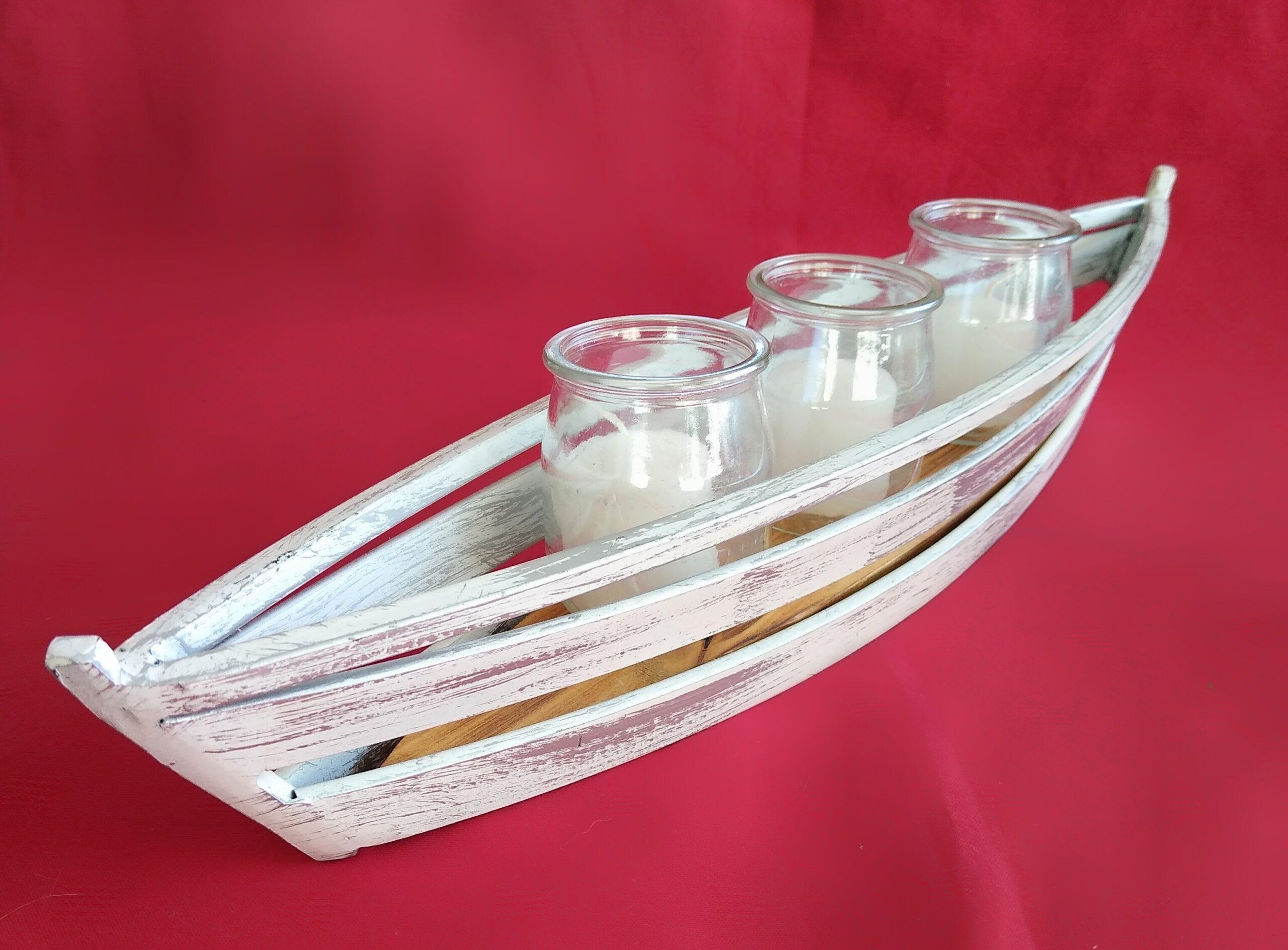 świecznik marynistyczny, żeglarski łódź