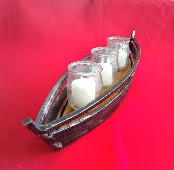 świecznik żeglarski marynistyczny łódź