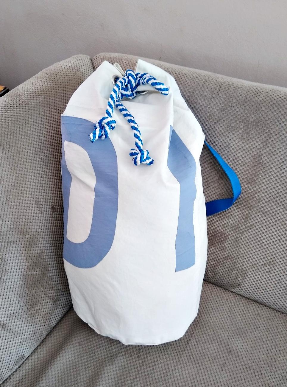 worek dla żeglarza worek żeglarski z prawdziwego żagla, oryginalny żagiel