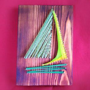 string art marynistyka obraz żaglówka